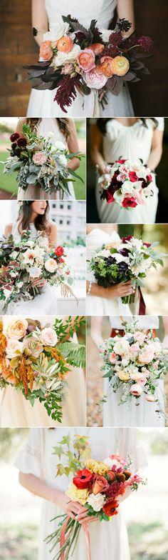 pretty fall wedding bouquets for 2016