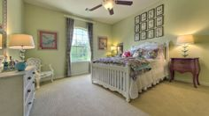 Great decor in this #bedroom by Darling Homes at Woodforest. #bedroomdesign