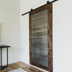 The Industrial Panel Door is a perfect blend of modern and industrial. Made from engineered alder and clear coated raw metal.