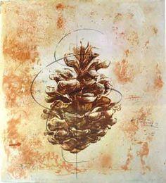 Centrifugal System, a screen print by Dutch/German artist, Ursula Neubauer