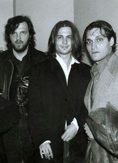keyframedaily:  Emir Kusturica, Johnny Depp and Vincent Gallo.