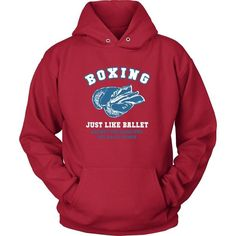 Boxing just like ballet except the dancers hit each other Boxer T Shirt - District Unisex Shirt / Red / S | Unique tees, hoodies, tank tops  - 1