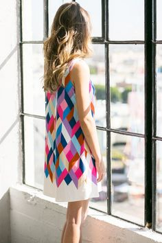 NOW ON SALE! <<< BEST SELLING >>> Geometric Pattern Sleeveless Dress http://meyoumeyou.com/product-detail.php?pid=6926 #MeYouMeYou