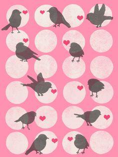 Birdsong Love - Art Print by Garima Dhawan/Society6