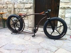 Rat rod bike. Benidorm, Spain, España