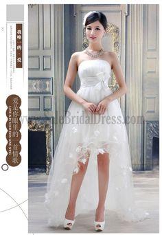 beach wedding dresses short   Casual Short Beach Wedding Dress Organza Garden Or Outdoor Beach Or ...