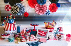 Fantastic 4th of July party! See more party planning ideas at CatchMyParty.com!