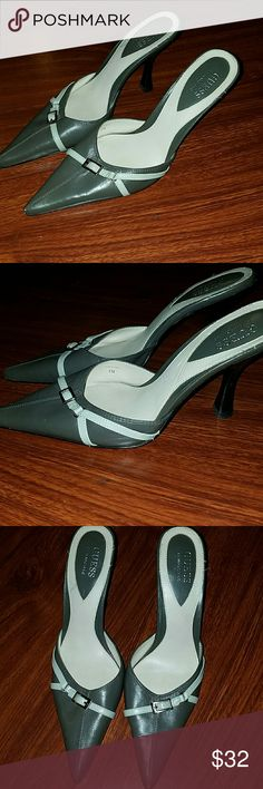 Guess pointed toe slip on heels size 8 Gorgeous Guess Shoes Heels