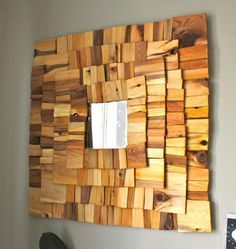 10 Diy Cool Mirror Ideas THESE I BELIEVE ARE PLAIN OLD CEDAR SHAKES BROKEN UP. GET LEFTOVERS FROM A JOBSITE. I BRAKE FOR CONSTRUCTION SITES!!! OR JUST BUY WHAT LITTLE YOU NEED FROM FRIENDLIEST STAFF MEMBER OF FAVORITE HARDWARE STORE...