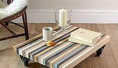 Pas chère et facile à réaliser, la déco récup' est tendance ! Avec quelques planches et un peu de peinture, on vous montre comment construire une table basse pratique et stylée pour le salon...