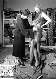 Fitting. Paris, Callot Soeurs fashion design house, 1931. Photograph by François Kollar (1904-1979). Paris, Bibliothèque Forney.