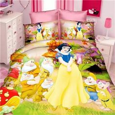 fairy snow princess girls bedding set duvet cover bed sheet pillow case twin single size bedclothes for kids