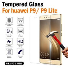 Huawei Ascend P9 Tempered Glass Film Screen Protector Huawei  accesories #UnbrandedGeneric Cell Phone Screen Protector, All Smartphones, Glass Film, Easy Install, Tempered Glass Screen Protector, Custom Design, Flims
