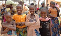 Girls from farming families in Niger