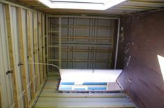 prefab building inside diy framed ready for insulation shipping container house
