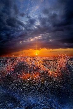 """""""Moment of Discovery"""" Wisconsin Horizons by Phil Koch. Waves crash on the shore of Lake Michigan at sunrise. Lives in Milwaukee, Wisconsin, USA. http://phil-koch.artistwebsites.com https://www.facebook.com/MyHorizons"""