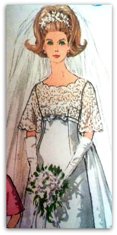 Simplicity 6825  Wedding Dress with Detachable by ThePatternShopp, $20.00