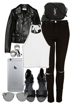 """""""Untitled #109"""" by voiceforfashion ❤ liked on Polyvore featuring Yves Saint Laurent, Topshop, Monki, Christian Dior, MTWTFSS Weekday and polyvoreeditorial"""