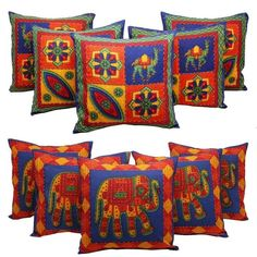 55% discount on Combo of 10 Pcs Kantha Work Traditional Rajasthani Print Cushion #Covers http://www.shopping-offers.in/home-kitchen/home-furnishing/home-kitchen/home-furnishing/combo-of-10-pcs-kantha-work-traditional-rajasthani-print-cushion-covers/