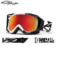 Smith Fuel V2 Sweat-x Motocross Goggles Black White Offset - Red Mirror -  2013. Off RoadingMotorkyOkuliare ac7460906da