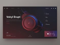 Vokyl Erupt brand by Hippie Mao. for Fireart Studio Website Design Inspiration, Website Design Layout, Web Layout, Layout Design, Sketch Inspiration, Site Portfolio, Product Design Portfolio, Mise En Page Web, Web Mobile