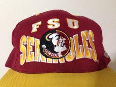 b600b5c6924 FSU Vintage Florida State Seminoles GCAP side logo Snapback Cap Hat 80s on  Etsy