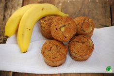 Muffinki bananowe bez cukru Sugar Free, Banana, Vegan, Fruit, Cooking, Breakfast, Food, Fitness, Kitchen