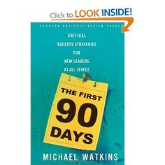 Great book on how to strategize & perform during your first 90 days on a job