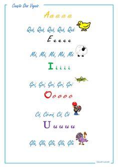 Vogais - sons Diy And Crafts, Alphabet, Thats Not My, Workshop, Tatoos, Words, School, 1, Preschool Literacy Activities