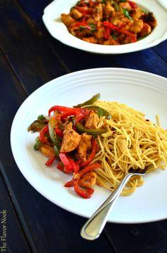 Chilli Chicken + Garlic Noodles