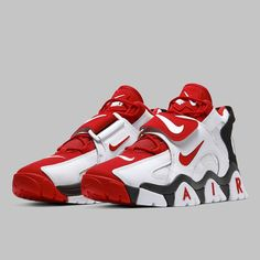 Nike Air Barrage Mid White Red Release Date Cute Nike Shoes, Black Nike Shoes, Cute Nikes, Nike Shoes Outfits, Nike Air Shoes, Sneakers Mode, Dress With Sneakers, Sneakers Fashion, Shoes Sneakers