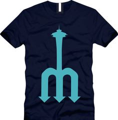 Needlefork Seattle Mariners Pitchfork by CoastalClothingCo on Etsy, $20.00