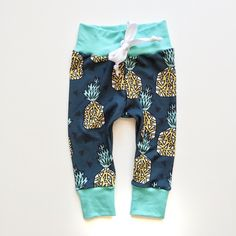 Pineapple Print Baby Boy Leggings