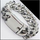"COOL HEAVY PUNK SKULL BIKER CHAIN Stainless Steel Bracelet 8.5"" 20mm 150g NEW - http://jewelry.goshoppins.com/mens-jewelry/cool-heavy-punk-skull-biker-chain-stainless-steel-bracelet-8-5-20mm-150g-new/"