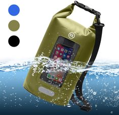 Hiking PACEARTH Double-layer Waterproof Dry Bag with Phone Window Case Touchscreen Cover Roll Top Dry Compression Sack with Reflective Strip for Kayaking Camping Beach Fishing Boating Rafting