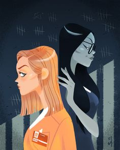I had to watch Orange Is The New Black for work : best job ever ! Here's a first illustration for fun !