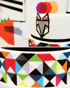 Colorful & Contemporary Geometric Fox Party