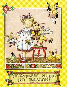 NO REASON MONKEY FAIRY MOTHER'S DAY Engelbreit Friendship, Mothers Day ...