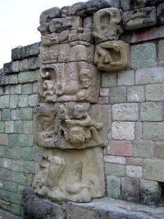 Ancient Mayan ruins at Copan, Honduras.