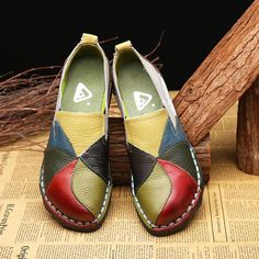 332c3370a2c SOCOFY Handmade Casual Leather Soft Flat Loafers