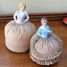 Antique Porcelain Victorian Lady Pin Cushion Half Doll