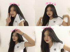 Cute Kawaii Girl, Cute Girl Face, Cute Girl Photo, Girl Photo Poses, Ulzzang Girl Selca, Ulzzang Korean Girl, Cool Girl Pictures, Girl Photos, Petty Girl