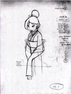 Art by Mulan's Supervising Animator, The Amazing, Mark Henn :3