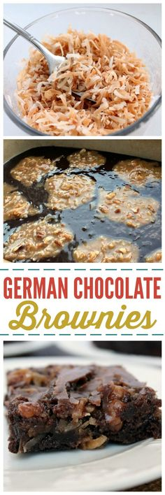 Take about Chocolate Therapy! These German Chocolate Brownies will leave you speechless and the recipe is SO easy! ~ http://reallifedinner.com