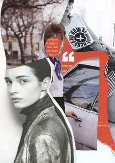 Fashion collage designed by Rebecca Hawkes