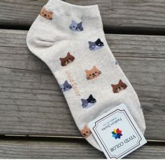 Our most popular cat socks are now in a new size! Available in 3 different colors, your wardrobe just got a little more purrfect! Looking for Crew Socks? Check them out HERE One Size Fits Most