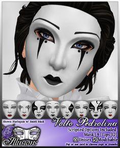 *~*Illusions*~* Volto Pedrolina Mask