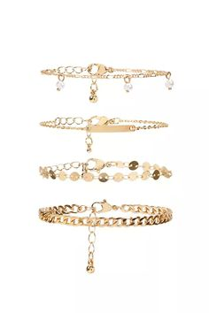 Product Name:Curb Chain Bracelet Set, Category:ACC, Price:5.9