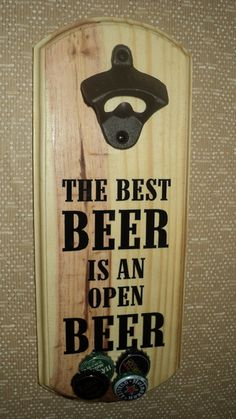 Abridor de cerveja de parede