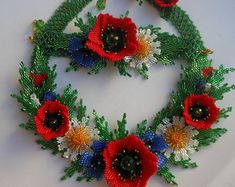 Viburnum girasol collar collar Real flor naturaleza collar